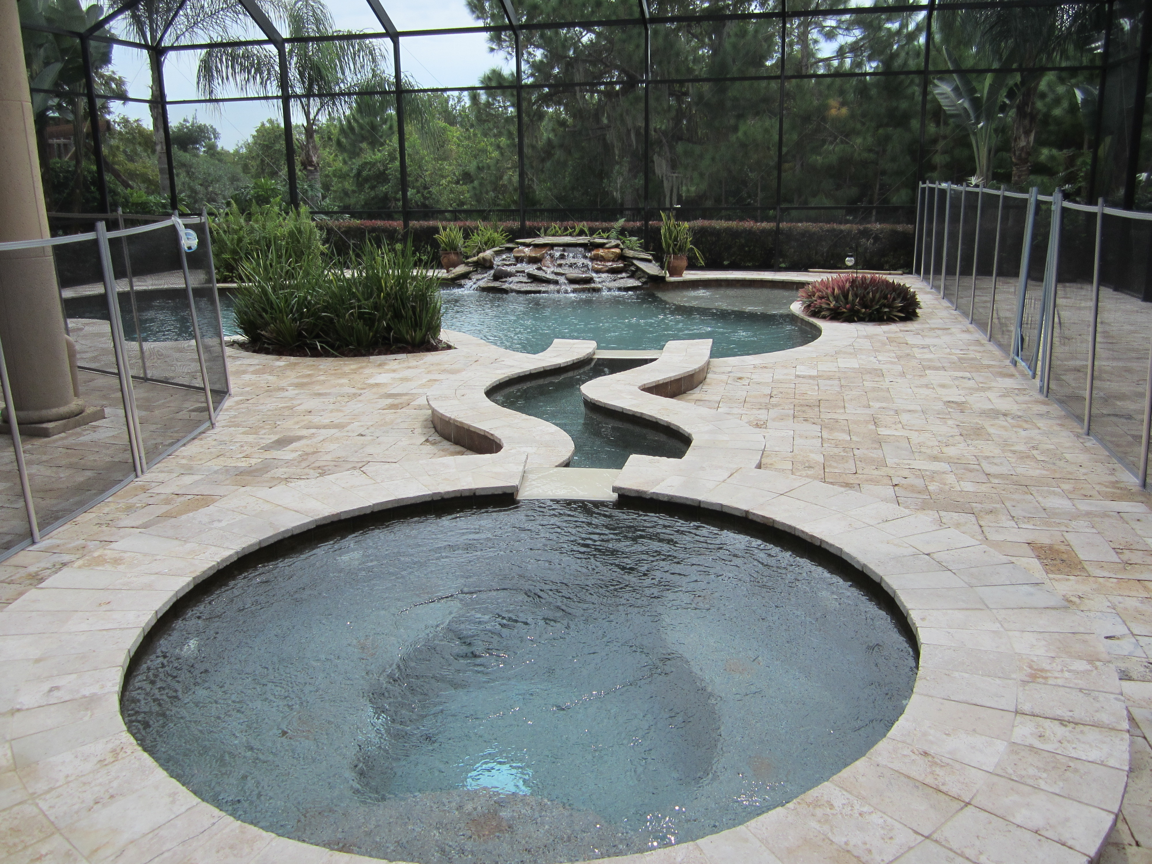 Swimming Pool Deck Cleaning : Pressure cleaning windermere fl a nice travertine pool