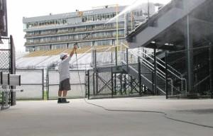 Pressure Washing Brighthouse Stadium at U.C.F Orlando FL