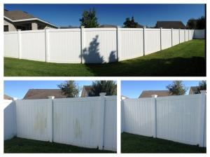 Vinyl Fence Pressure Washing Orlando, Central Florida