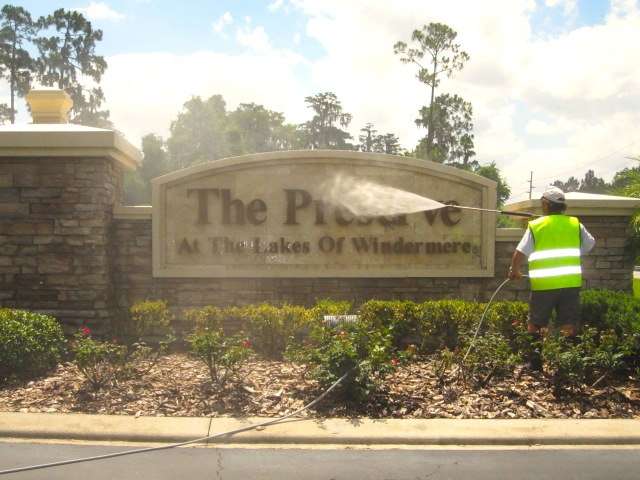 Entrance Pressure Washing and Cleaning Orlando, Central Florida Areas