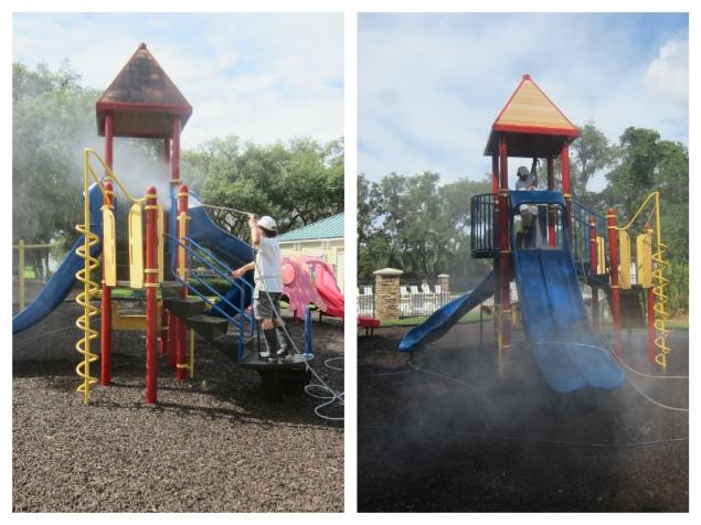 Playground Equipment Pressure Washing and cleaning Orlando
