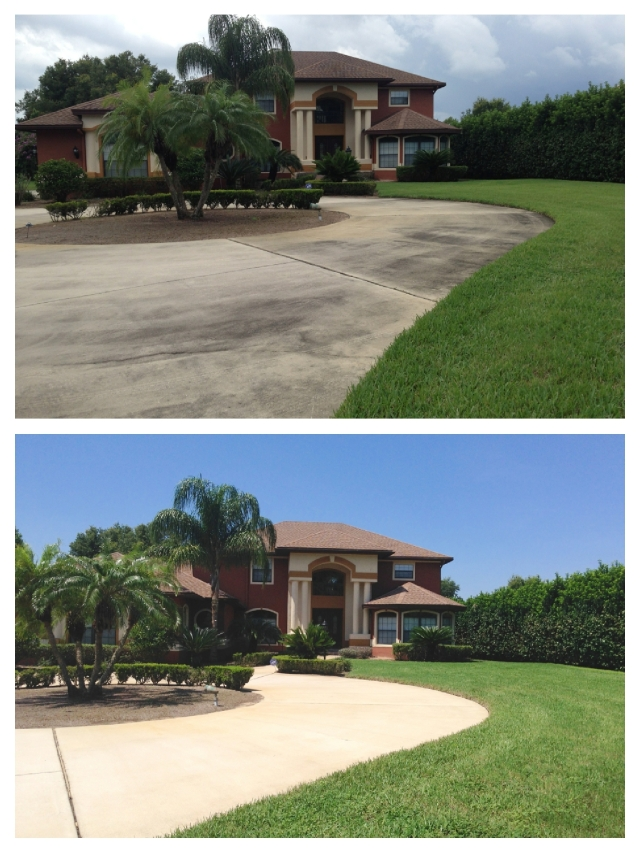 Roof cleaning and driveway pressure washing Winter Garden, FL