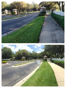 Subdivision entrance cleaning Orlando