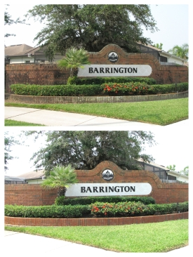 Subdivision Wall Cleaning Orlando, FL